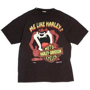 Harley-Davidson Mens Taz 1992 Striped T-Shirt XL